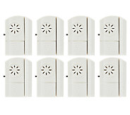 Set of 8 Wireless Door and Window Alarms with Chime Option - V33096