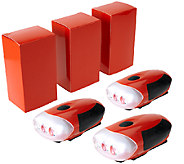 Illuminator Set of 3 Hand Crank Flashlights w/ 3 LED Lights - V33196