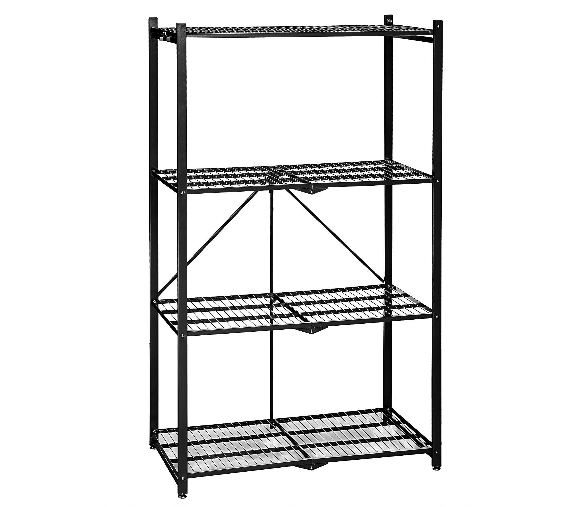 Fold Up Shelf Pop It 4 Tier Heavy Duty Collapsible Storage Shelf Page 1 Qvccom