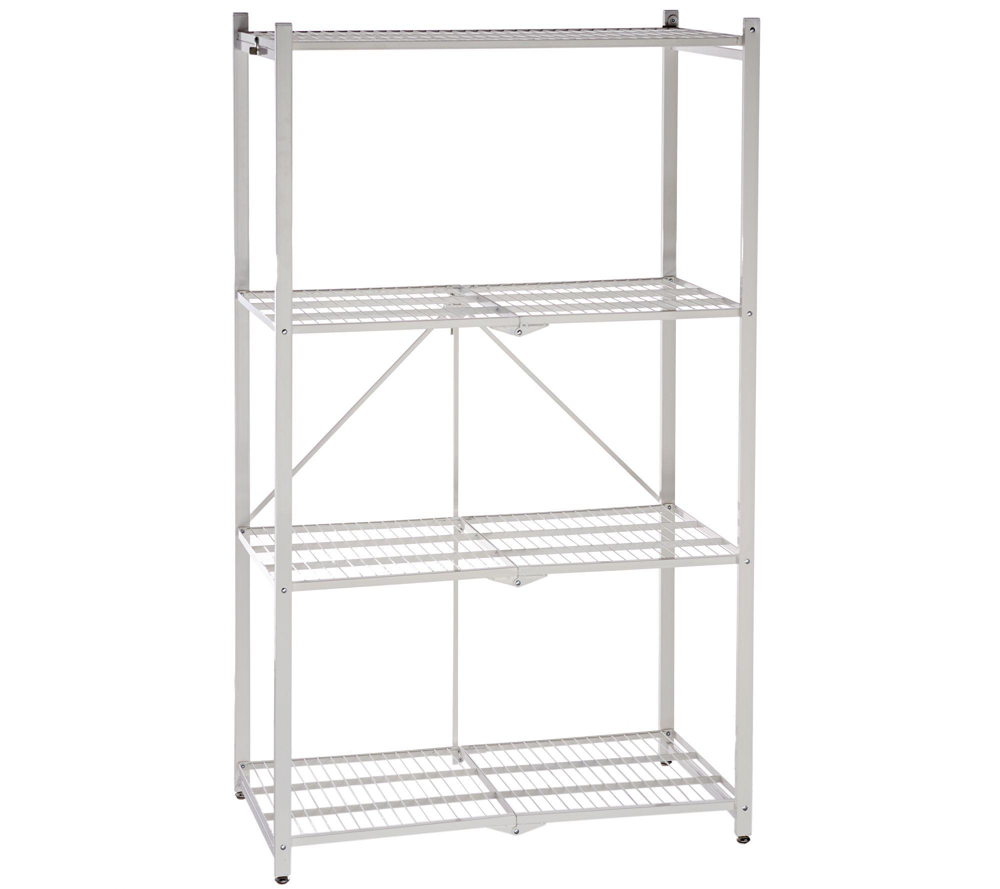 Pop it 4 tier heavy duty collapsible storage shelf page 1 qvc jeuxipadfo Images