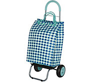 Trolley Dolly Basket Weave Cart w/ Extra Large Wheels & Cushion Handle - V34696