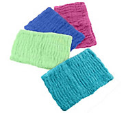 Set of 4 Solid Color 100Cotton Turbie Hair Bands - V32897