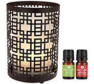 RevitaSpa Aromatherapy Essential Oil Diffuser & FlamelessCandle - V34497