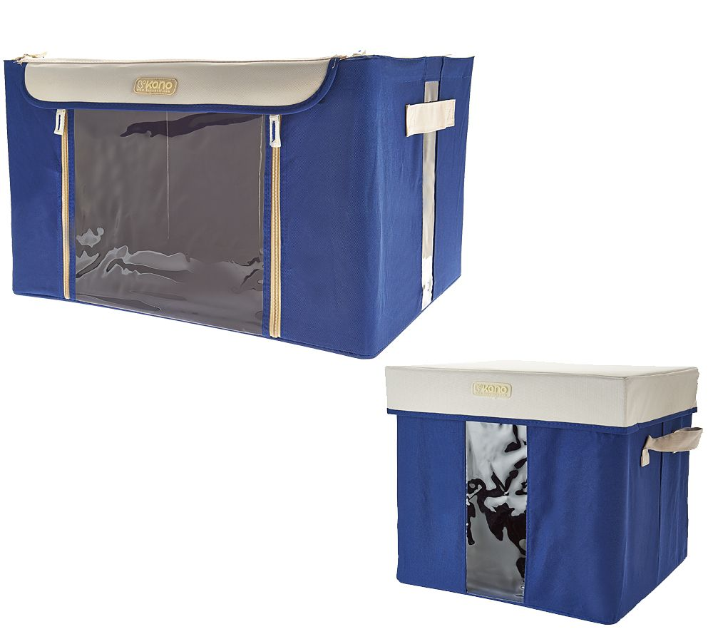 Kano Set of 2 Storage Boxes w/Steel Frame & Window Panel - V33198 ...