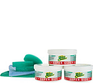 Bio Cleaner Set (3) 17.5oz Cleaning Clay w/ 2 Microfiber Cleaning Cloths - V35198