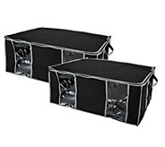 SuperPack Set of 2 Jumbo Stackable Vacuum Seal Storage Totes - V33199