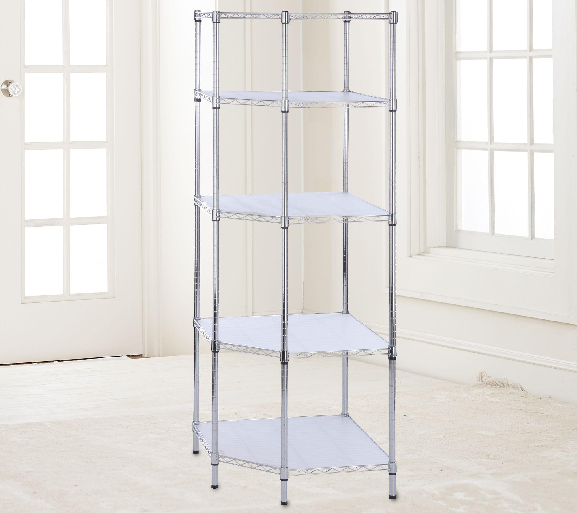 Five Tier Chrome Corner Shelf