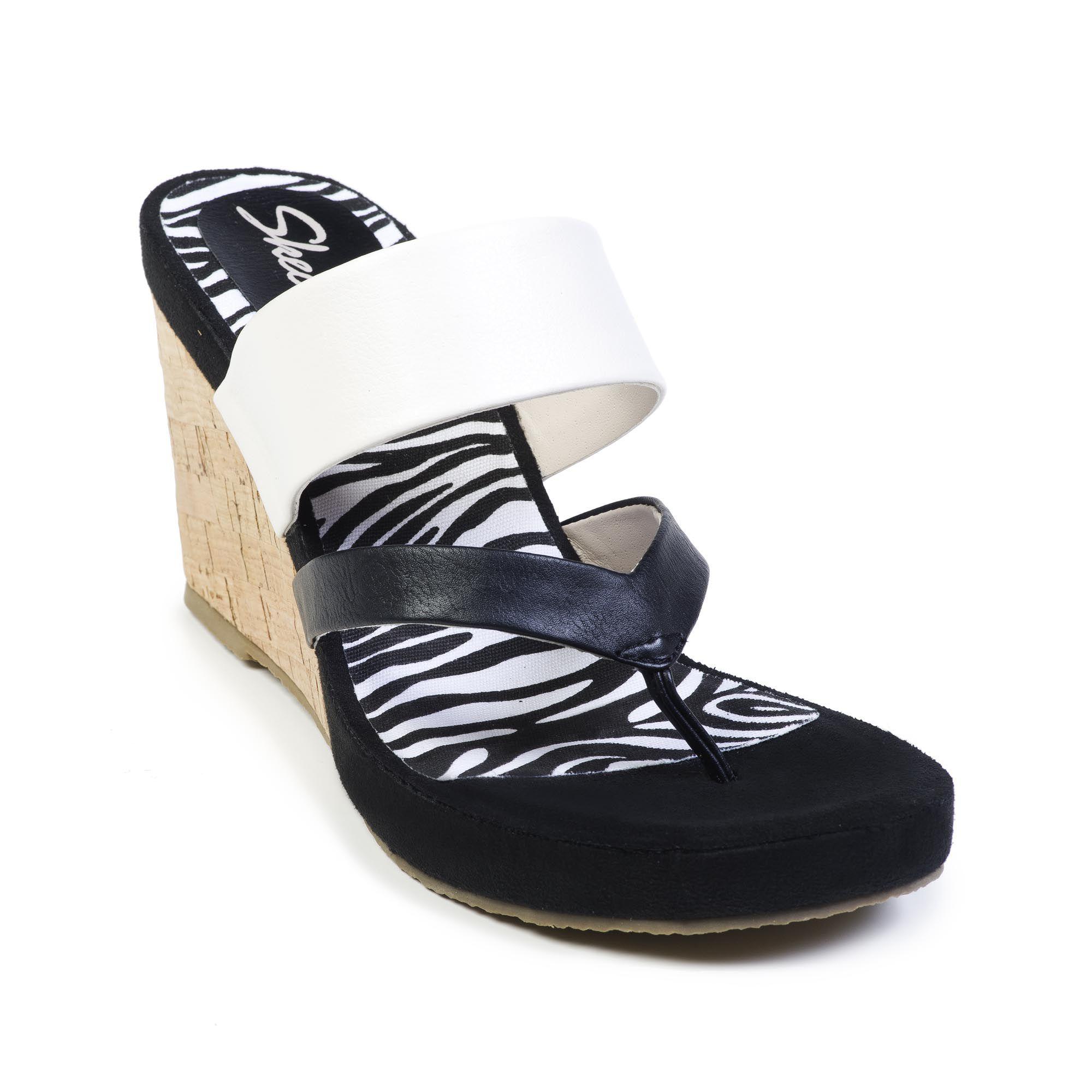 Sandalo infradito Cali Modiste con zeppa in sughero