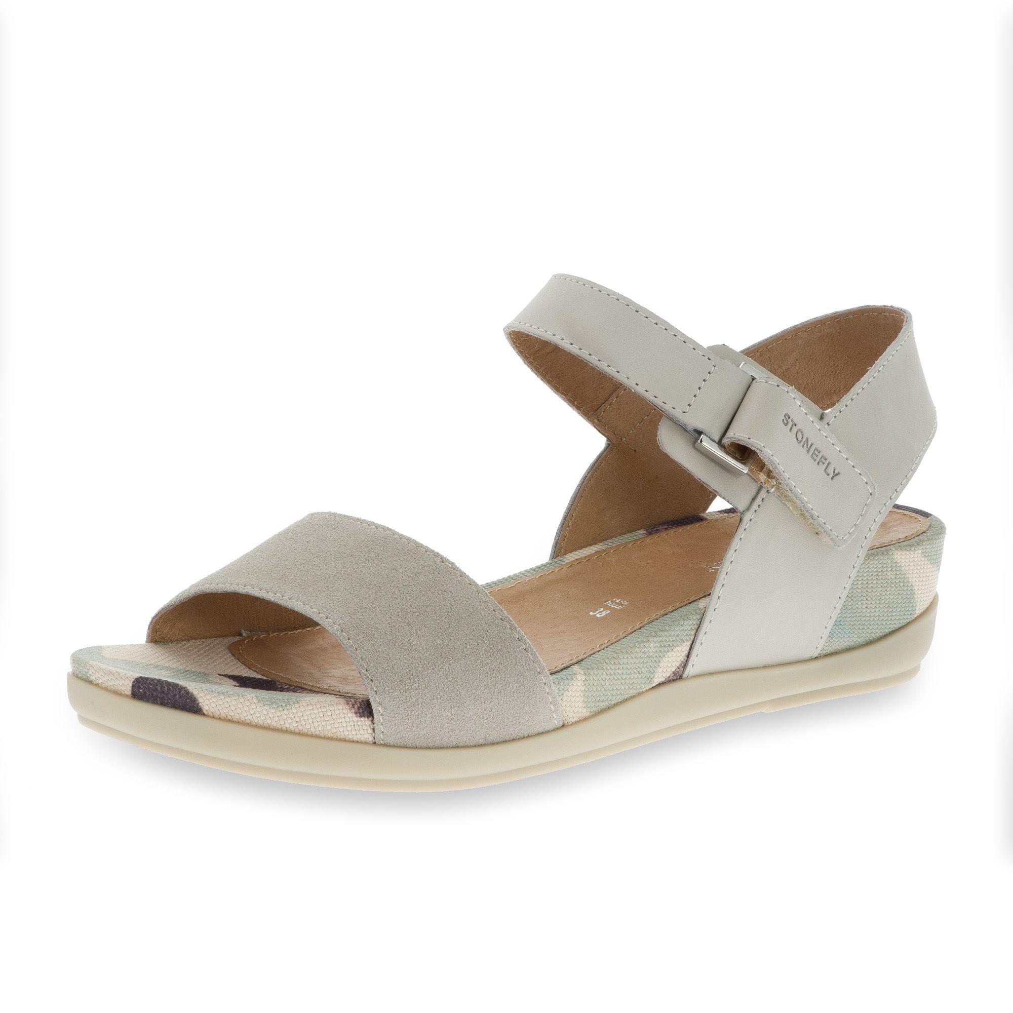 Sandalo in pelle con zeppa 4cm