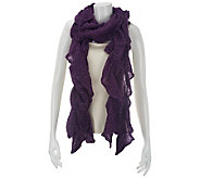 Ruffle Scrunch Scarf with Lurex - A227500