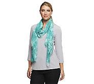 Isaac Mizrahi Live! Washed Ink Print Scarf - A233400