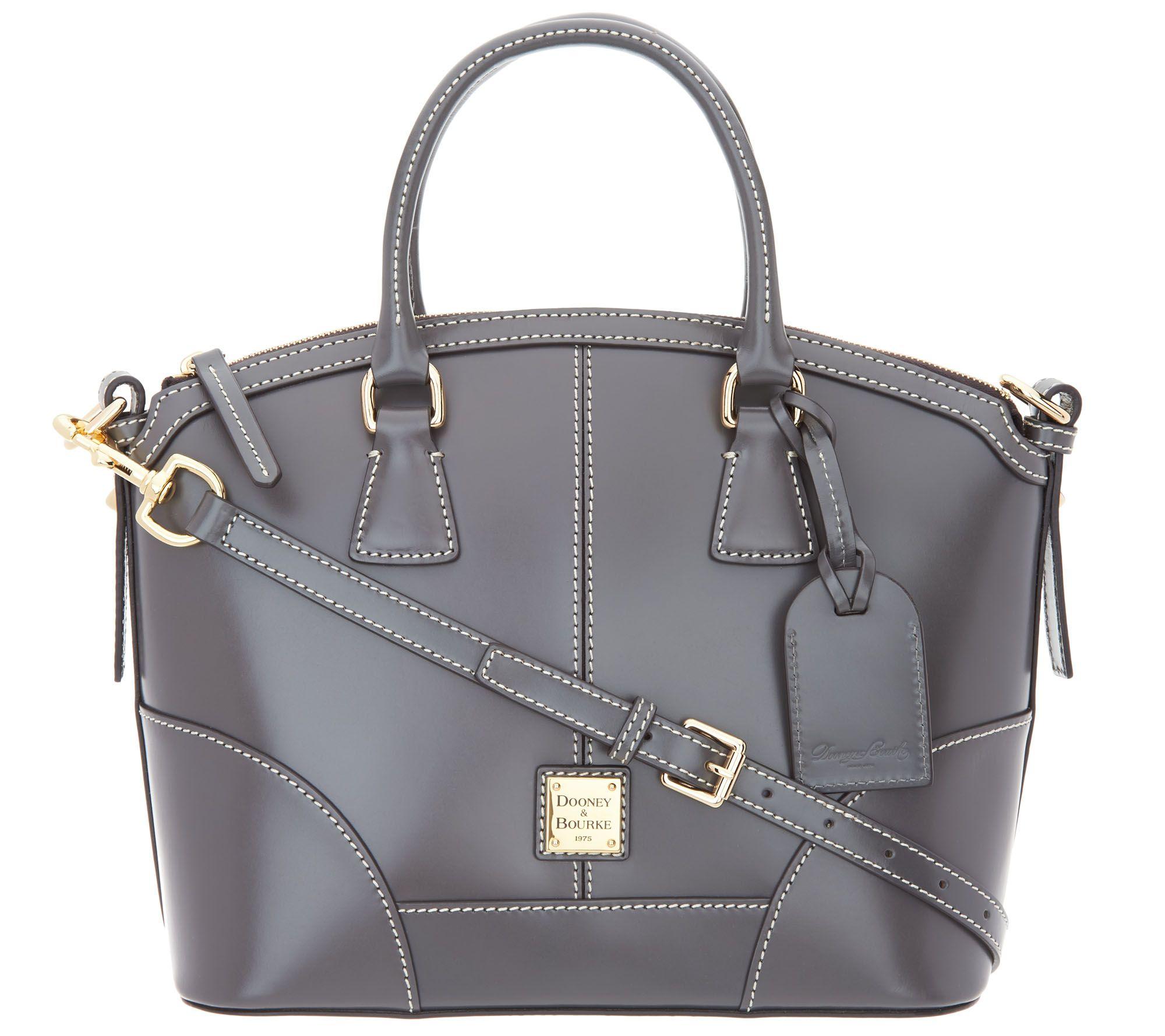 122ec1dee499 Dooney & Bourke Selleria Florentine Leather Domed Satchel — QVC.com
