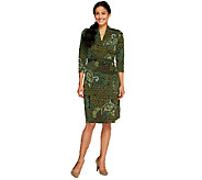 Liz Claiborne New York Petite Printed Knit Wrap Dress - A257200