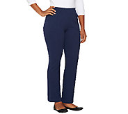 Denim & Co. Active Petite French Terry Boot Cut Pants - A260600