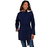 Dennis Basso Water Resistant Asymmetrical Zip Front Jacket - A274900