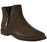 Clarks Somerset Suede Ankle Boots - Cabaret Ruby - A283800