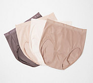 Breezies Set of 4 Nylon Microfiber Hi-Cut Panty - A287800