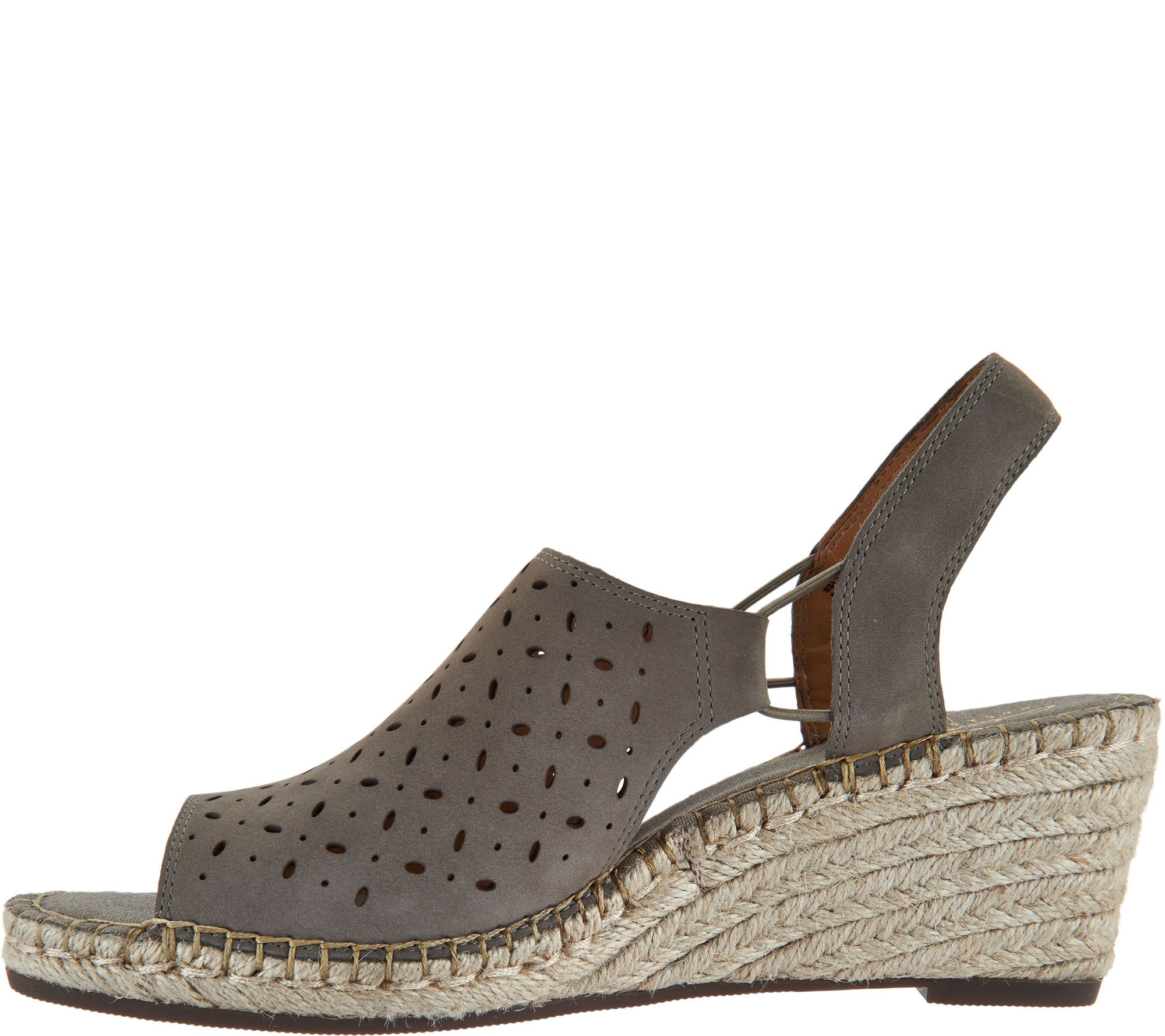 905d1cfbb6f Clarks Artisan Leather Espadrille Wedge Sandals - Petrina Gail - Page 1 —  QVC.com