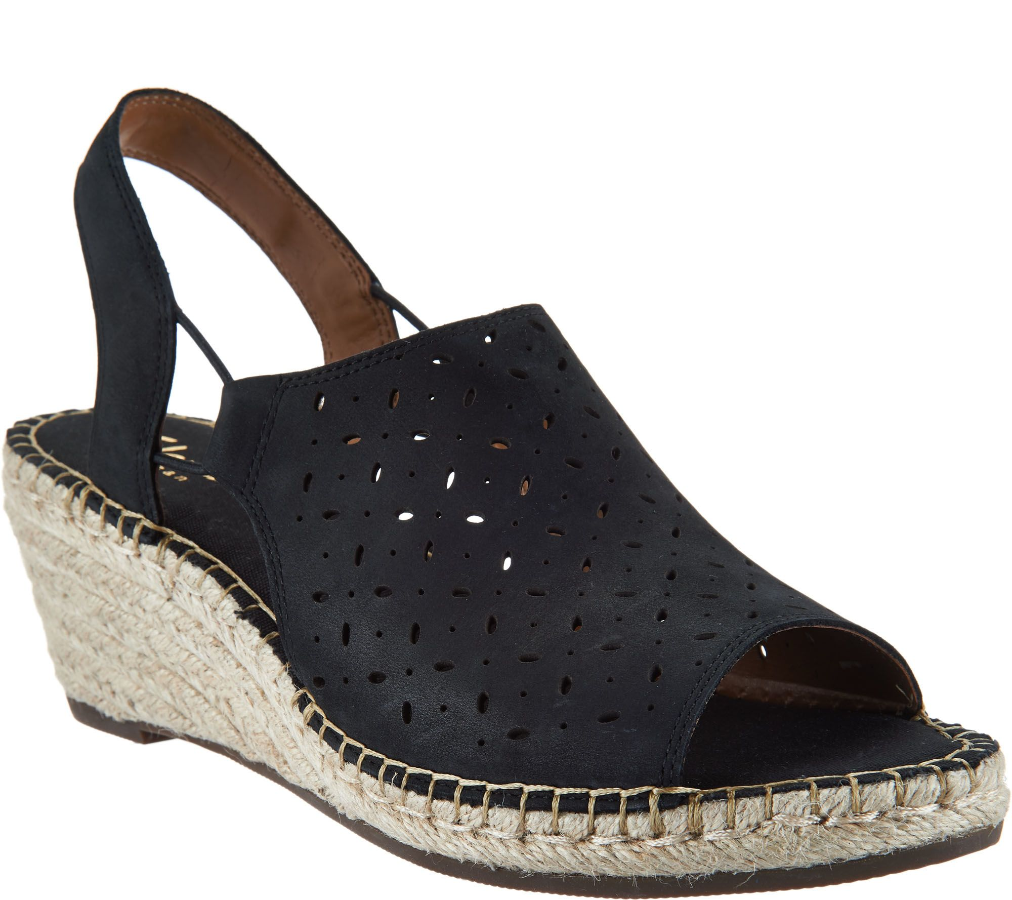 a3cca1379558 Clarks Artisan Leather Espadrille Wedge Sandals - Petrina Gail - Page 1 —  QVC.com