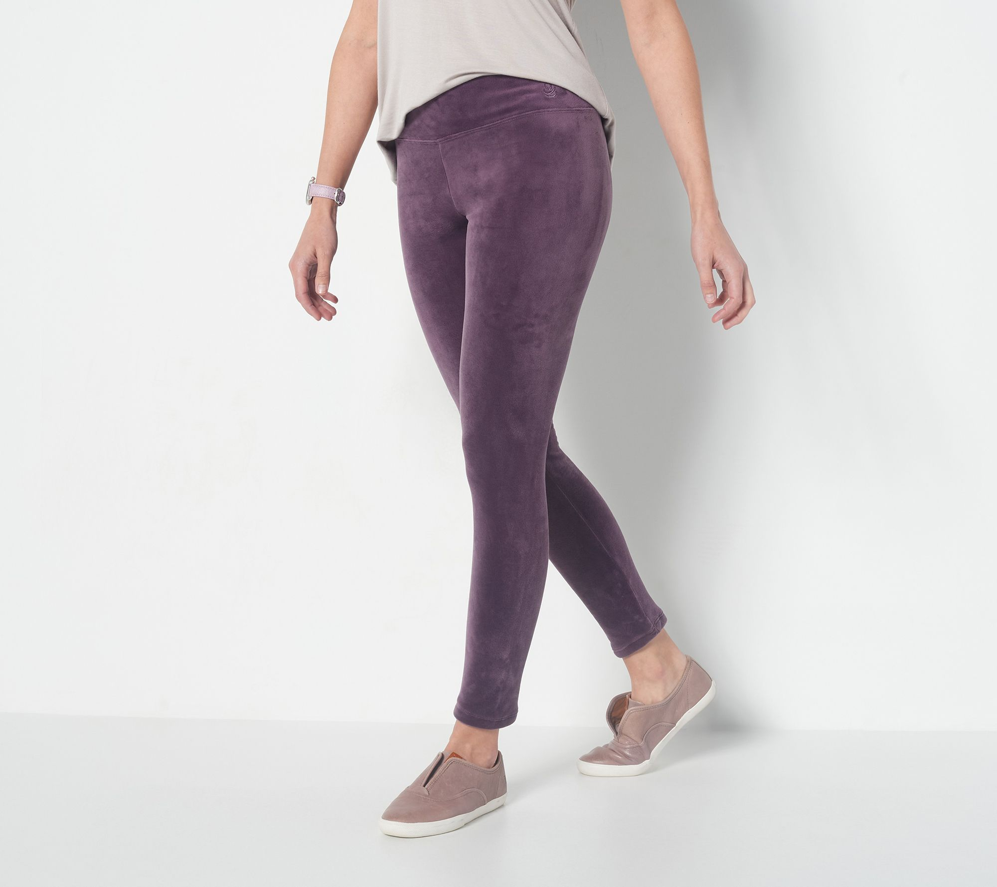 4e726690ac8e0 Cuddl Duds Double Plush Velour Leggings - Page 1 — QVC.com