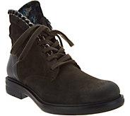Miz Mooz Suede & Velvet Lace-up Ankle Boots - Chelsea - A300300