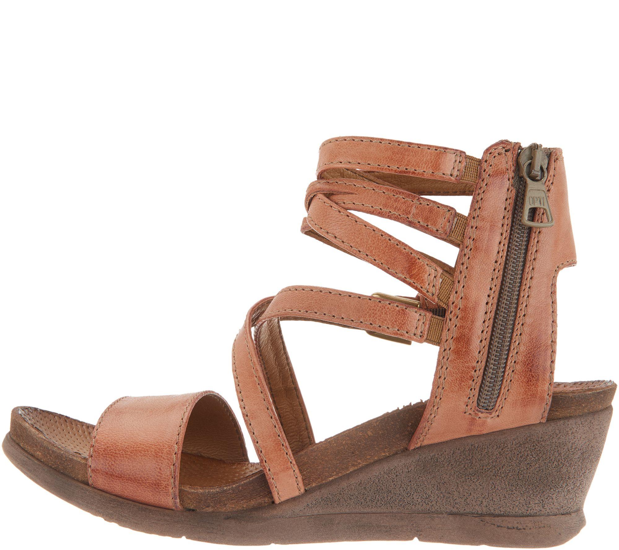 Miz Mooz Leather Multi Strap Wedge Sandals Shay Page 1