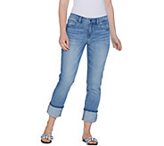 Laurie Felt Classic Denim Stiletto Jeans with Cuff - A305700