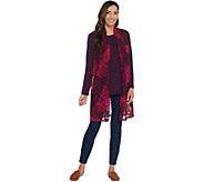 Susan Graver Printed Lace Vest & Knit Tunic Set - A310700