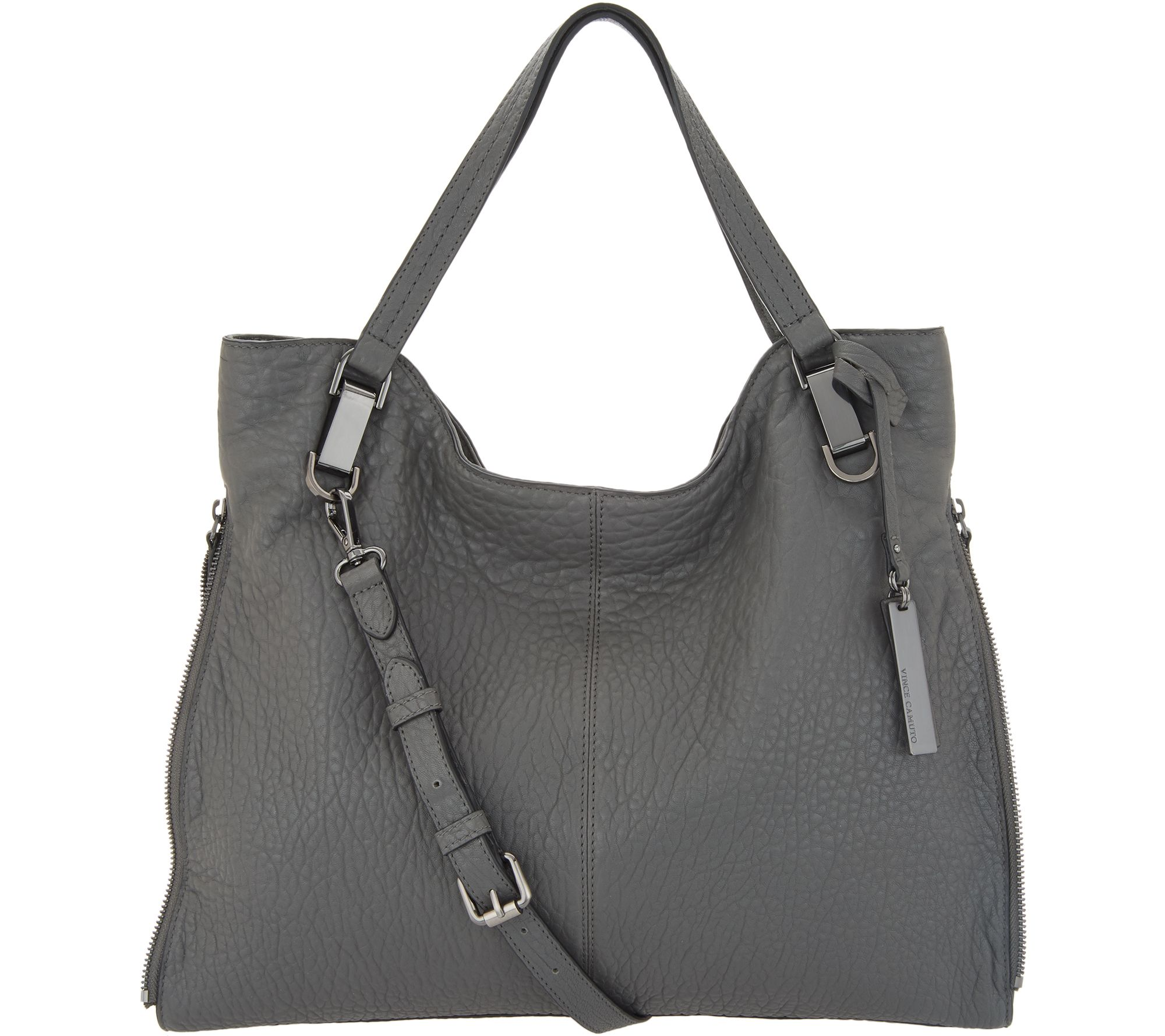 3df537cee53 Vince Camuto Lamb Leather Tote Handbag - Eliza - Page 1 — QVC.com