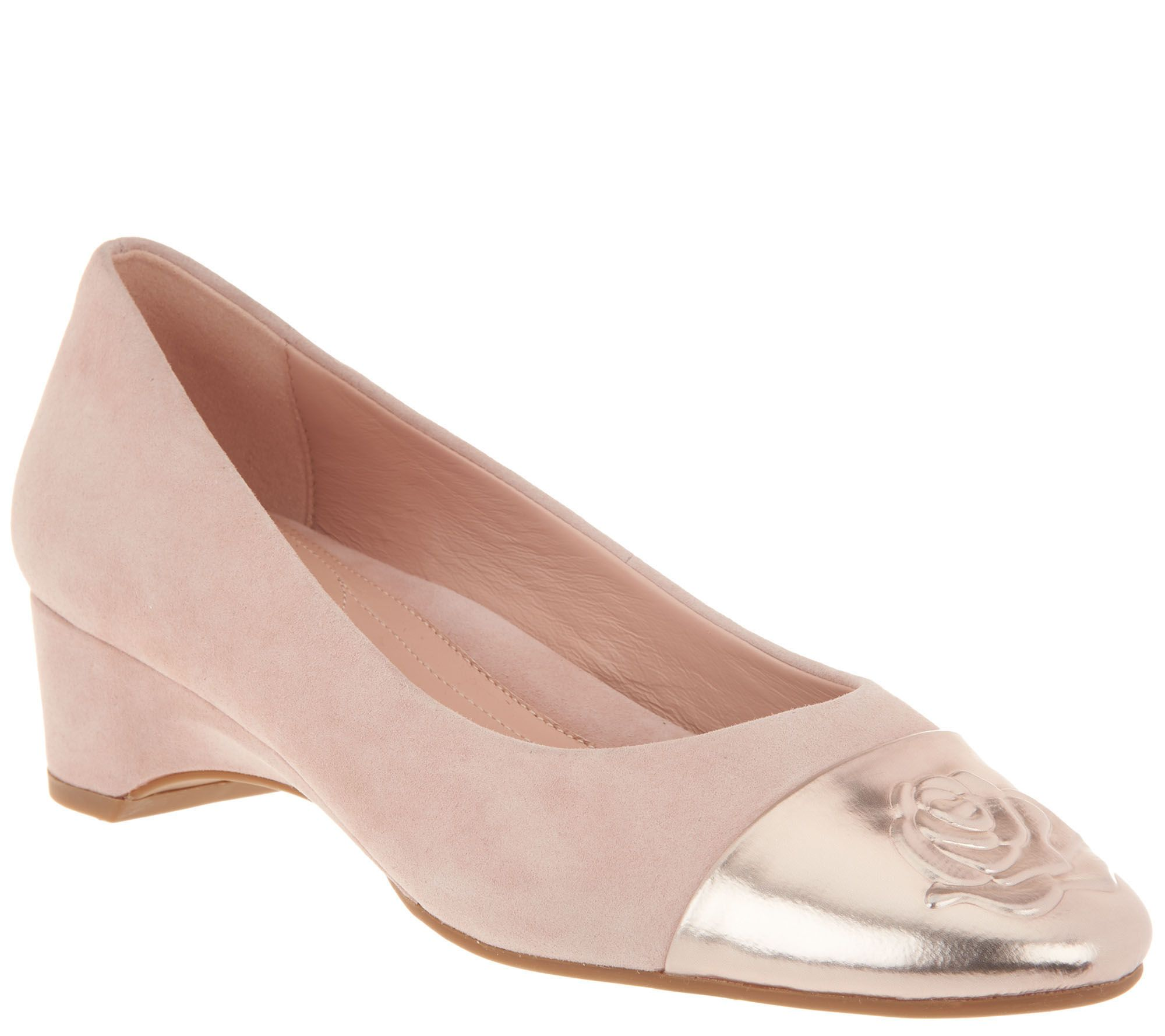 9ea83be549 Taryn Rose Suede Wedge Pumps - Babe - Page 1 — QVC.com