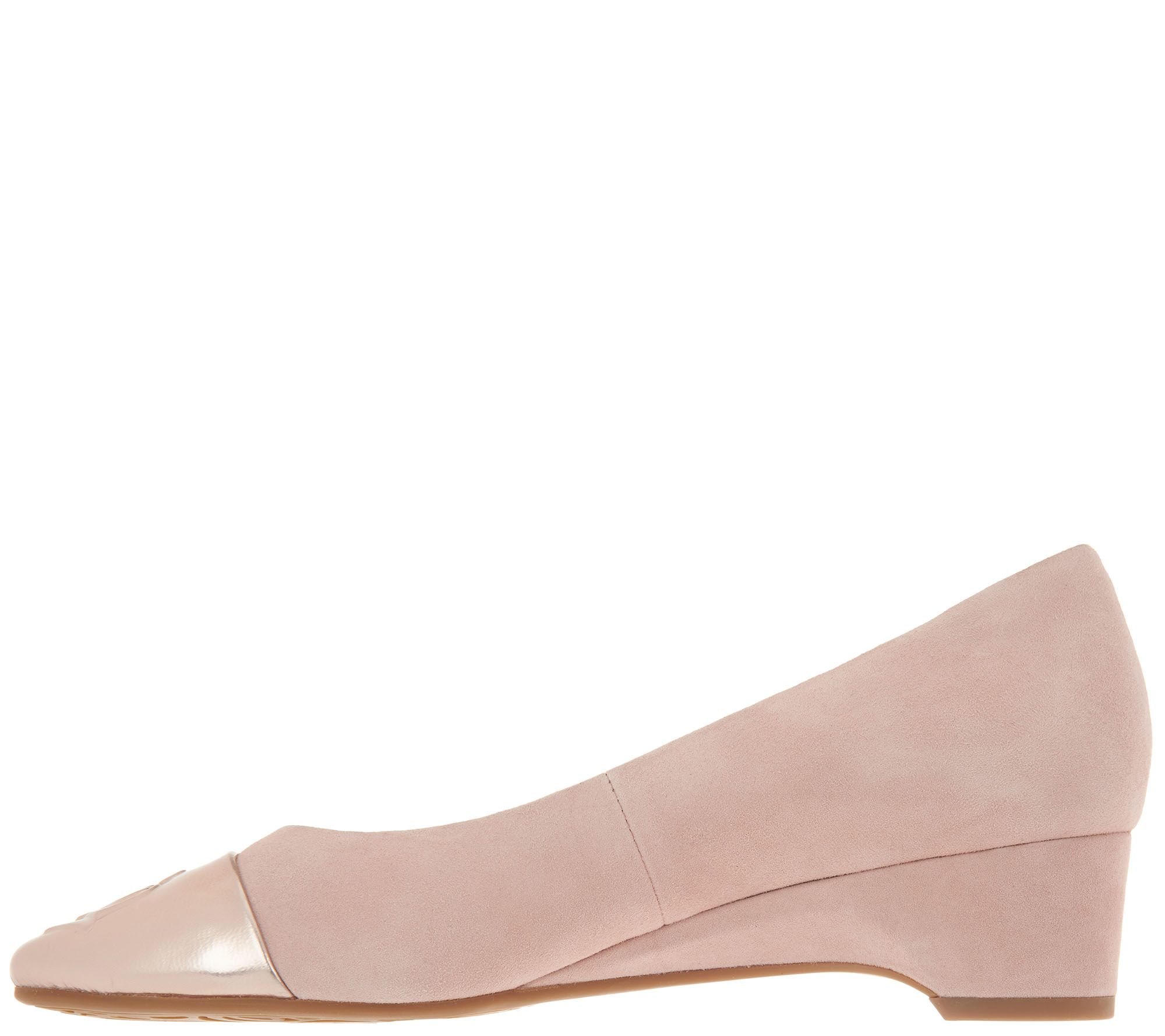 d705f8c38148 Taryn Rose Suede Wedge Pumps - Babe - Page 1 — QVC.com