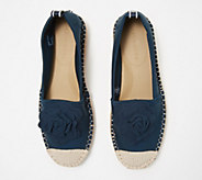 Taryn Rose Espadrille Slip-Ons with Rose Detail - Quincy - A352300