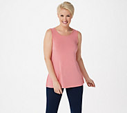 H by Halston Essentials Scoop-Neck Sleeveless Tank with Binding - A352400