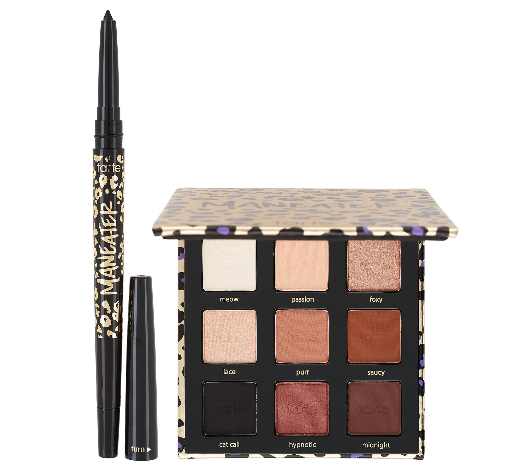 Tarte Meow Or Never Maneater Eye Shadow Eyeliner Duo Qvc Com