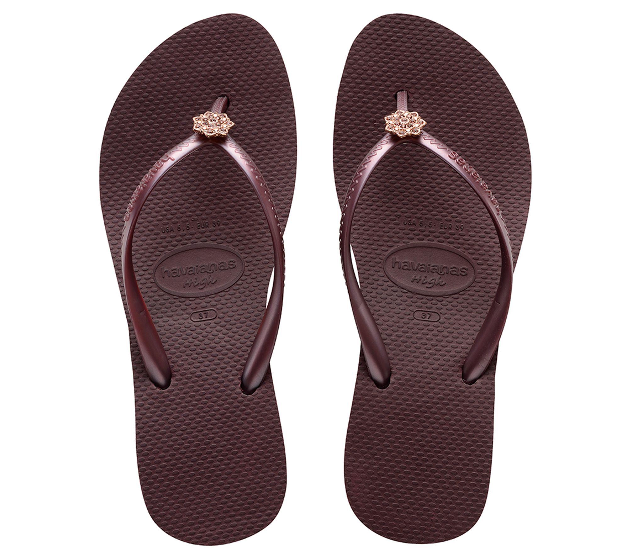 bd9b7c0959f Havaianas Flip Flop Wedge Sandals - High Fashion Poem — QVC.com