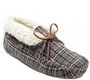 Minnetonka Plaid Slippers - Plaid Chrissy - A359600