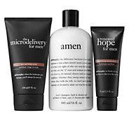 philosophy gift your man scrub, moisturizer & shower gel trio - A364700