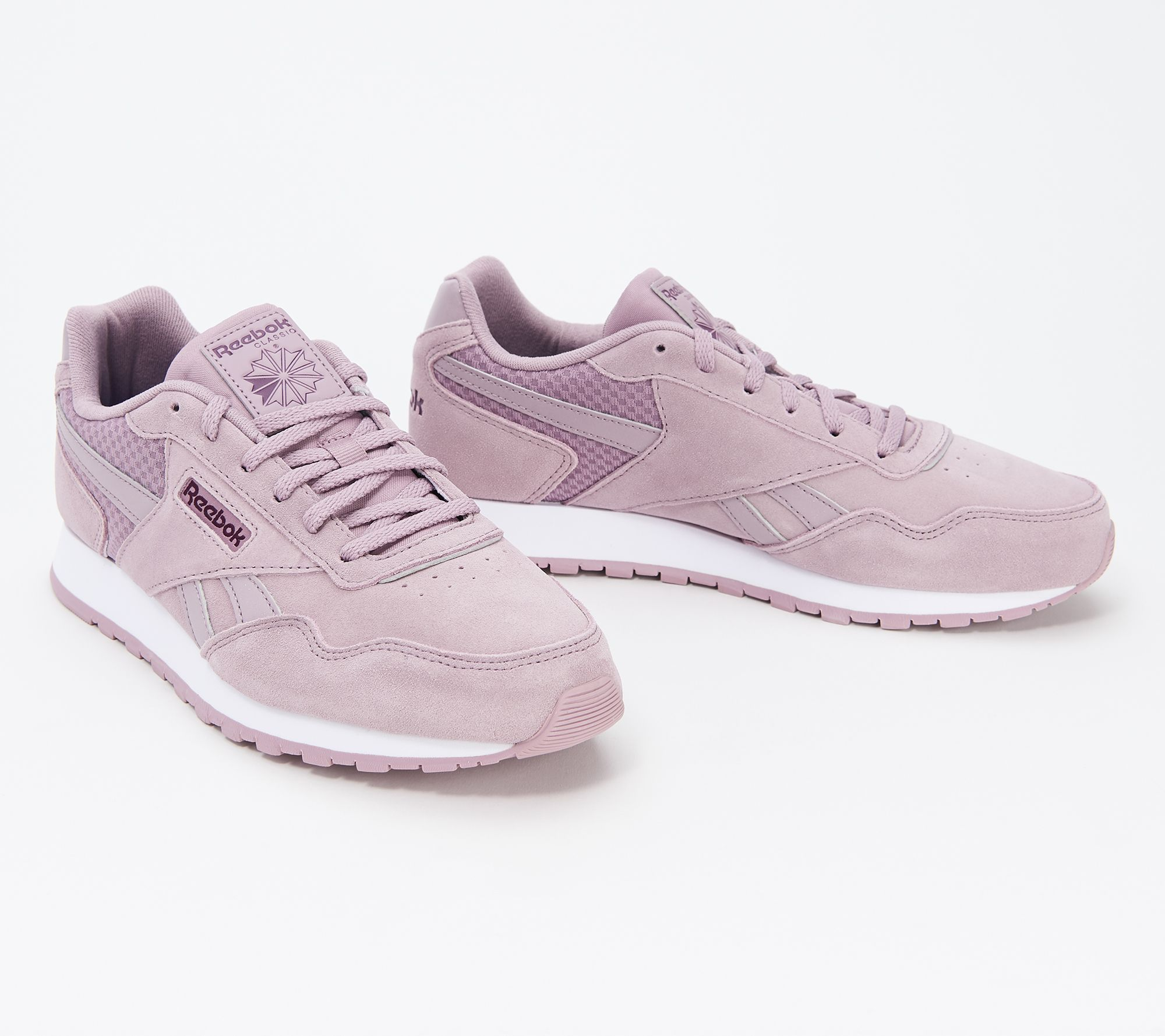 shop for original Clearance sale to buy Reebok Classics Lace-Up Sneaker - Harman Run — QVC.com