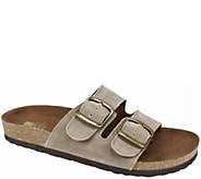 White Mountain Leather Slide Sandals - Helga - A413000