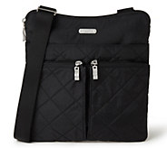 baggallini Quilted Horizon Crossbody with RFIDWristlet - A413100