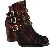 LArtiste by Spring Step Leather and Velvet Booties - Nakisha - A414800
