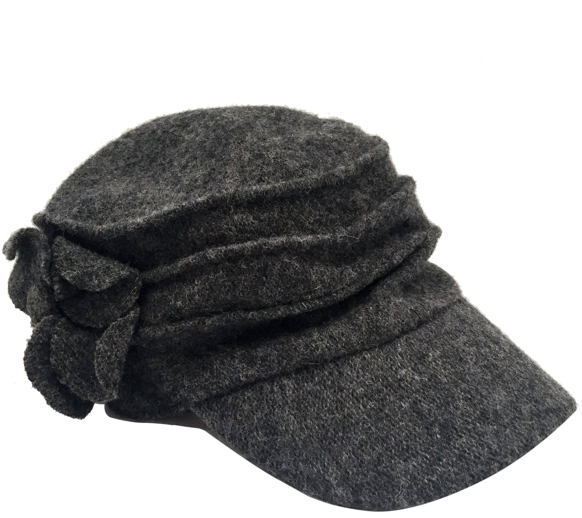 San Diego Hat Co. Wool Cadet with Flower — QVC.com cc084432efe