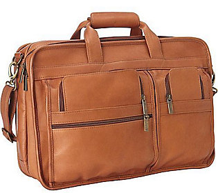 Le Donne Leather Expandable Multi-Function Briefcase