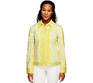 Isaac Mizrahi Live! Colorful Snake Printed Knit Jacket - A252101