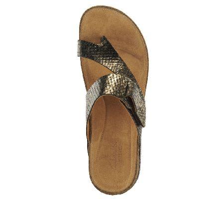 a3d1ff8a0d842a Clarks Artisan Perri Coast Leather Thong Sandals - Page 1 — QVC.com