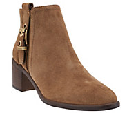 Franco Sarto Suede or Leather Booties with Buckle - Eminent - A271301