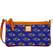 Dooney & Bourke NFL Ravens Large Slim Wristlet - A285801