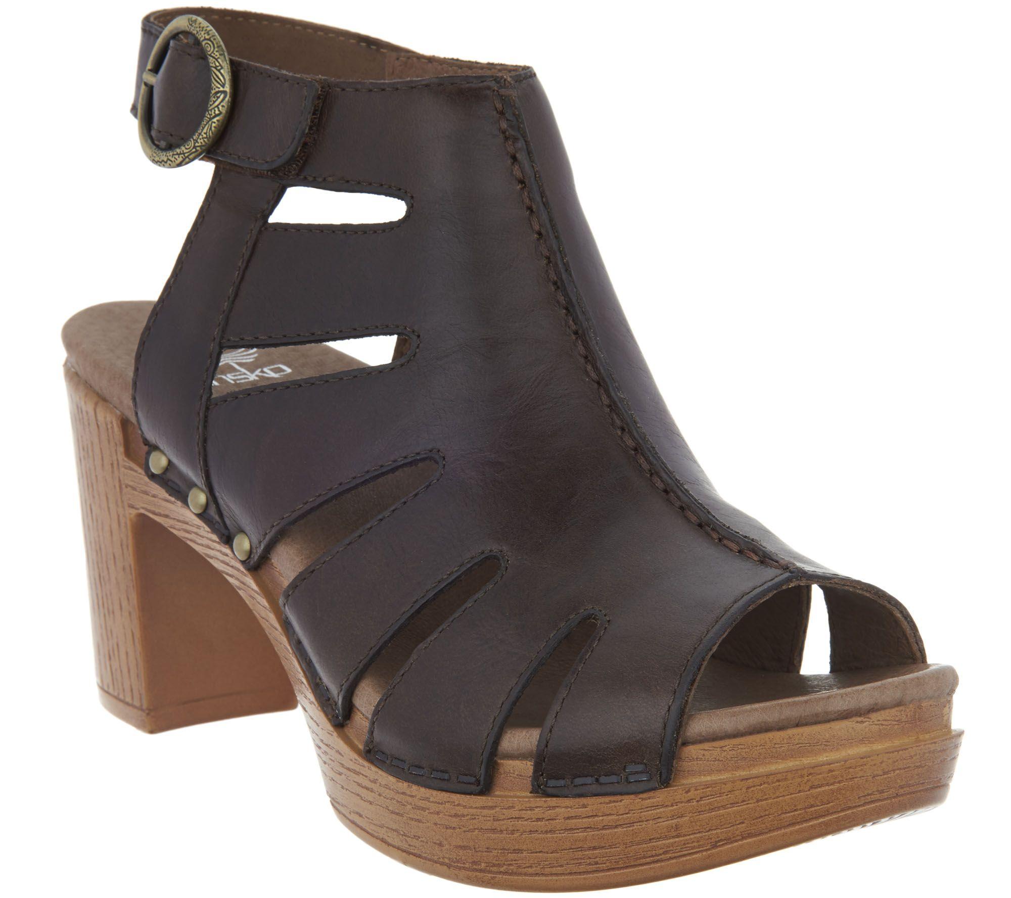 63523f17582 Dansko Leather Cut-out Sandals - Demetra - Page 1 — QVC.com