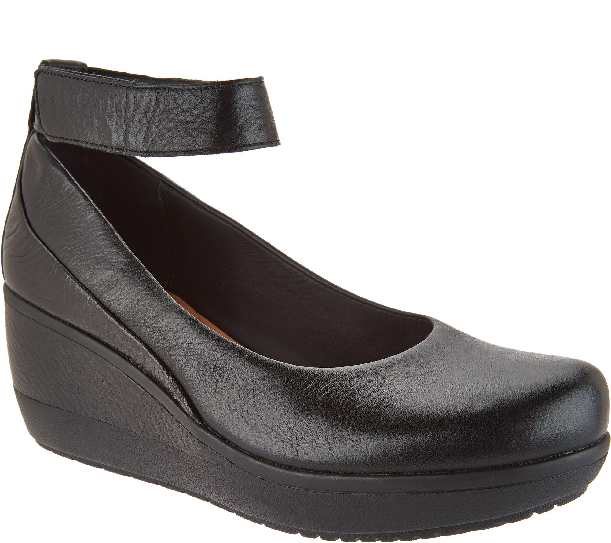 2711edd19d4a Clarks Artisan Leather Wedges w  Ankle Strap -Wynnmere Fox - Page 1 —  QVC.com