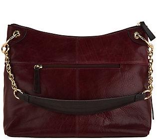 7ef8743ef9 As Is Tignanello Vintage Leather Newport HoboHandbag (A308301) photo